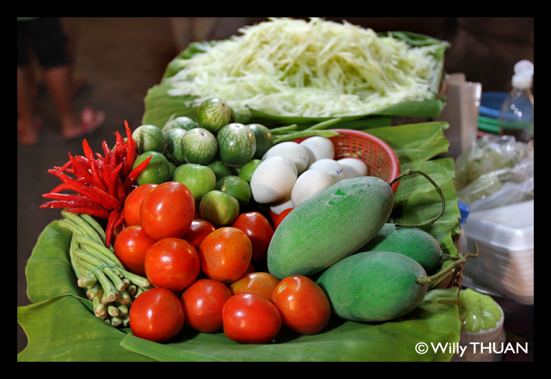 Som Tam ingredients
