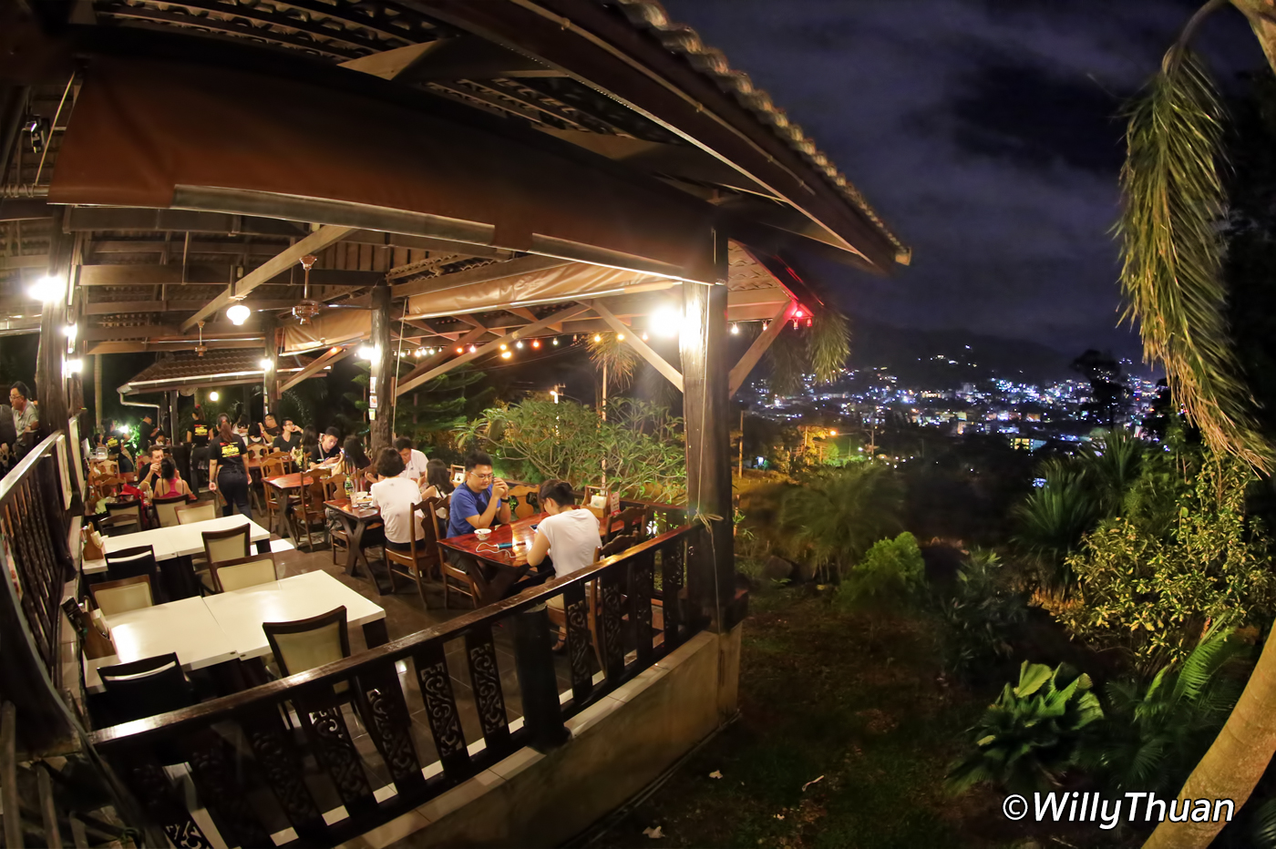 No 6 Restaurant Up the Hill in Patong Beach, Phuket
