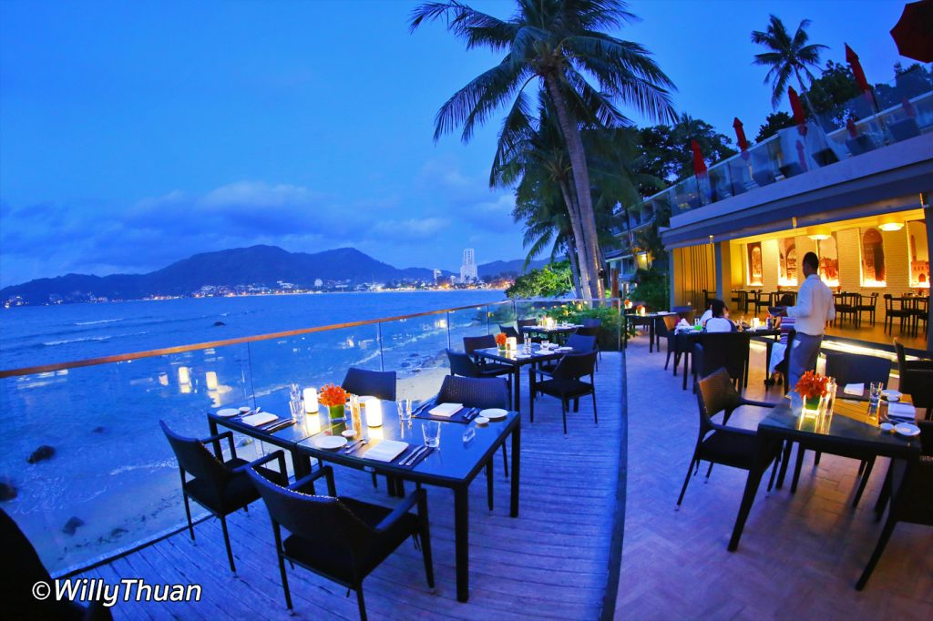 The terrace of La Gritta Restaurant in Patong Beach