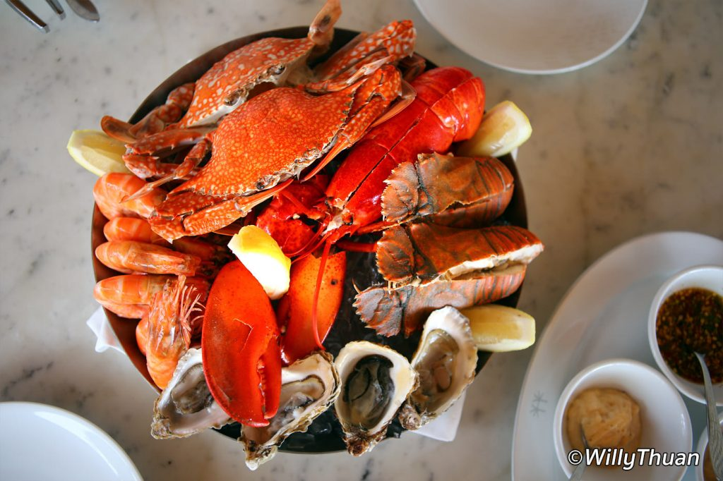 Seafood platter at Palm Seaside Restaurant