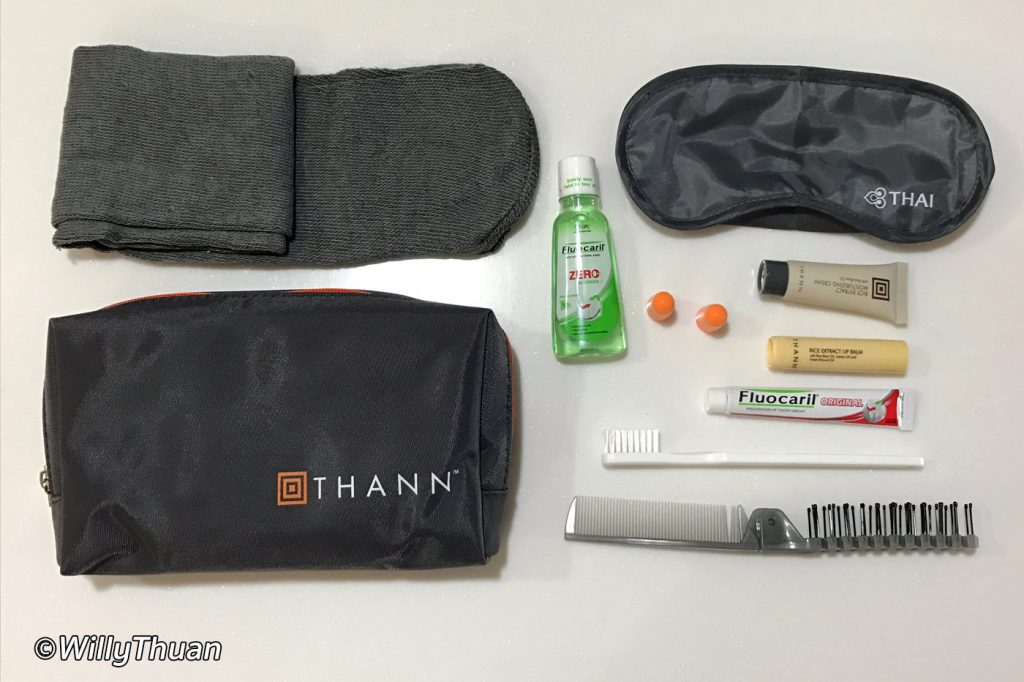 Inside Thai Airways Business Class Pouch