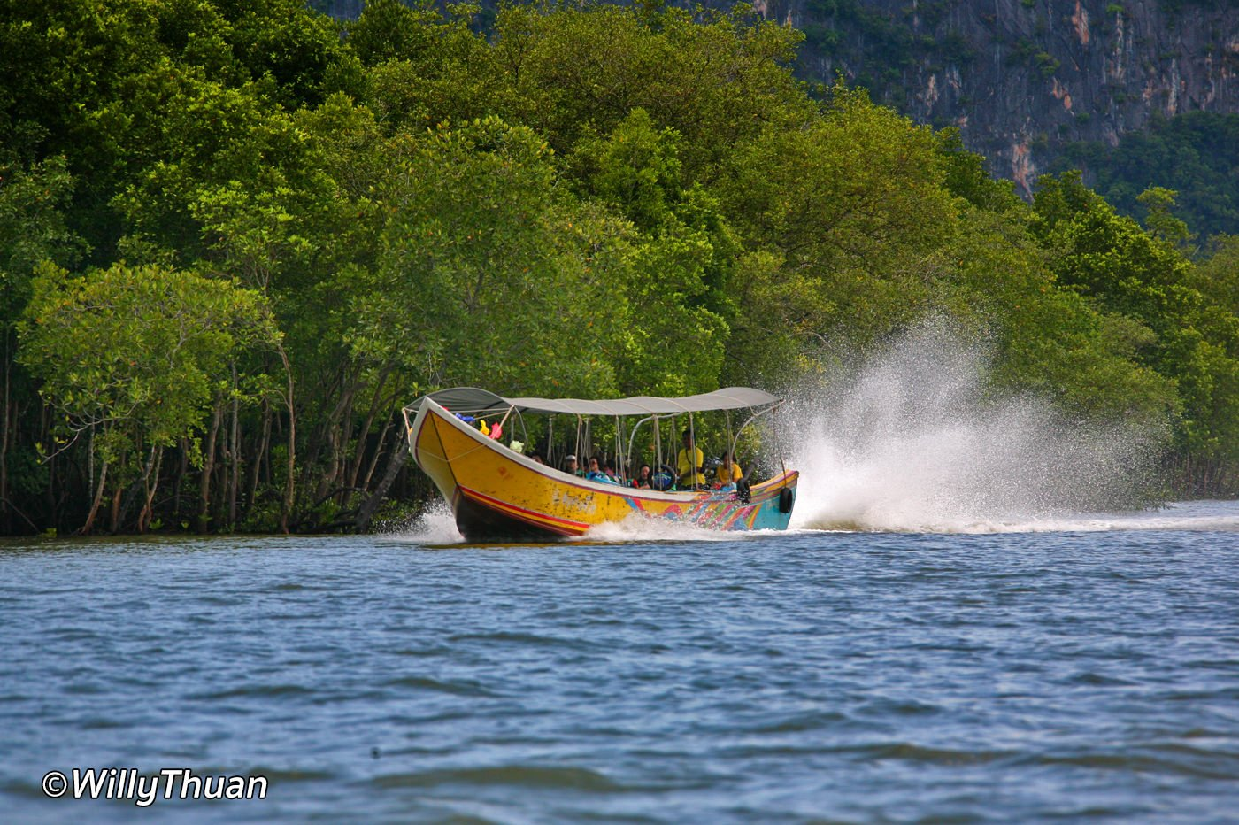 Long Tail boat to Phang Nga