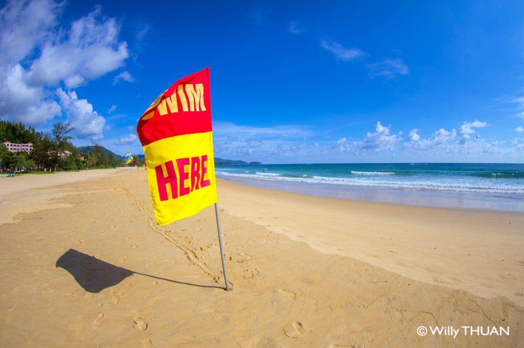Phuket swimming flags and swimming safety