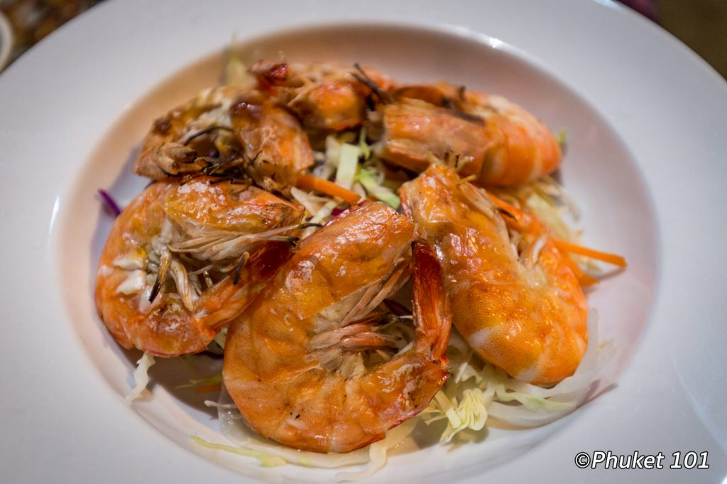 King Prawns at The Beach Bar Phuket