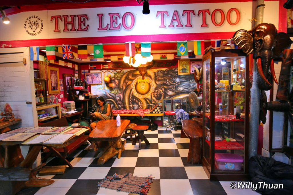 Tattoo shop in Phi Phi Island