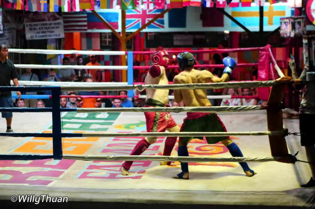 Muay Thai fight at Reggae bar on Koh Phi Phi