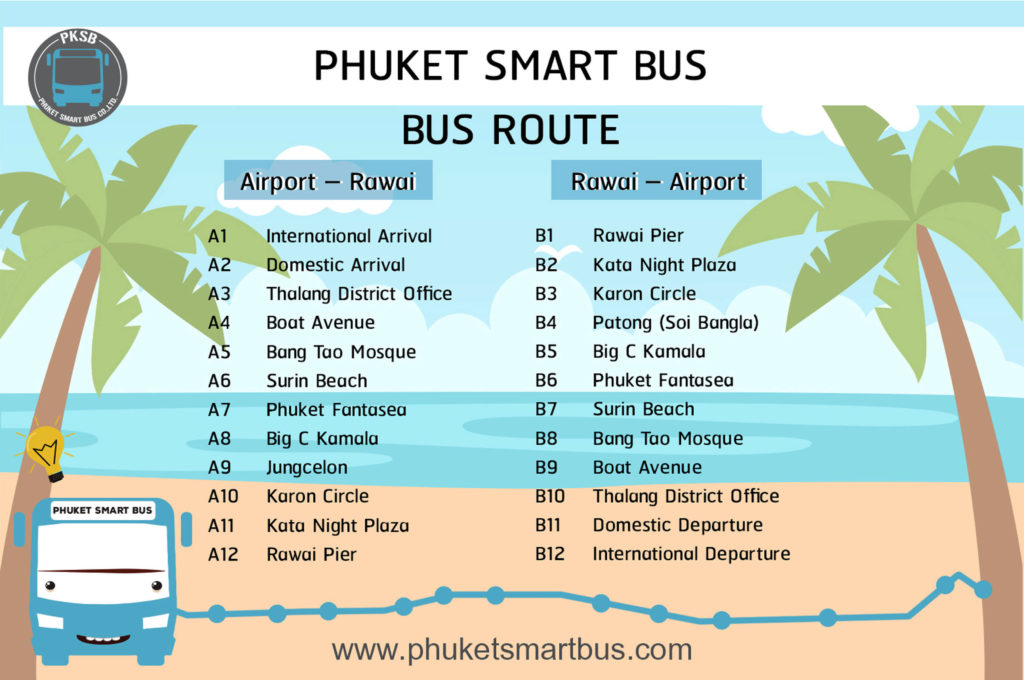 Phuket Smart Bus Itinerary
