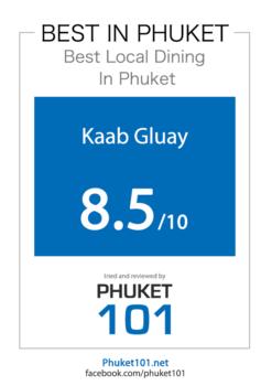 Certificate Kaab Gluay - Best in Phuket