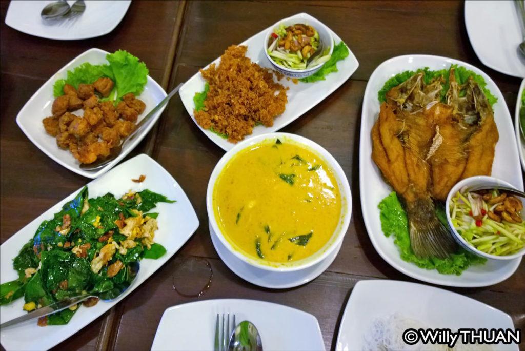 Thai food at One Chun Restaurant Phuket