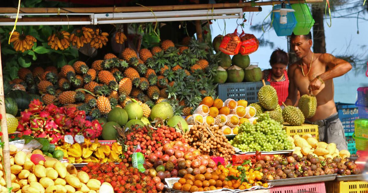 Thai fruits in Phuket