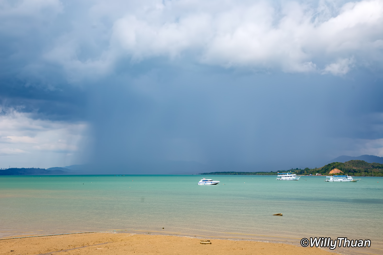 Rain over Phuket