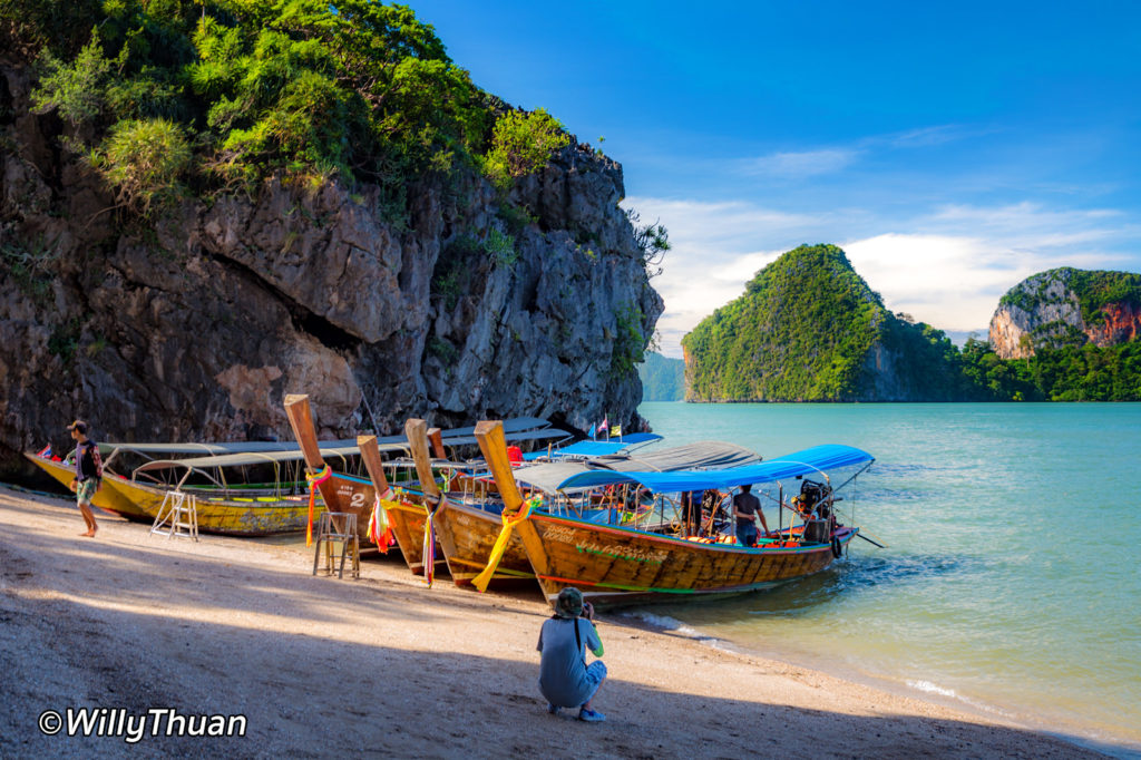Longtail boats in Phang Nga Bay