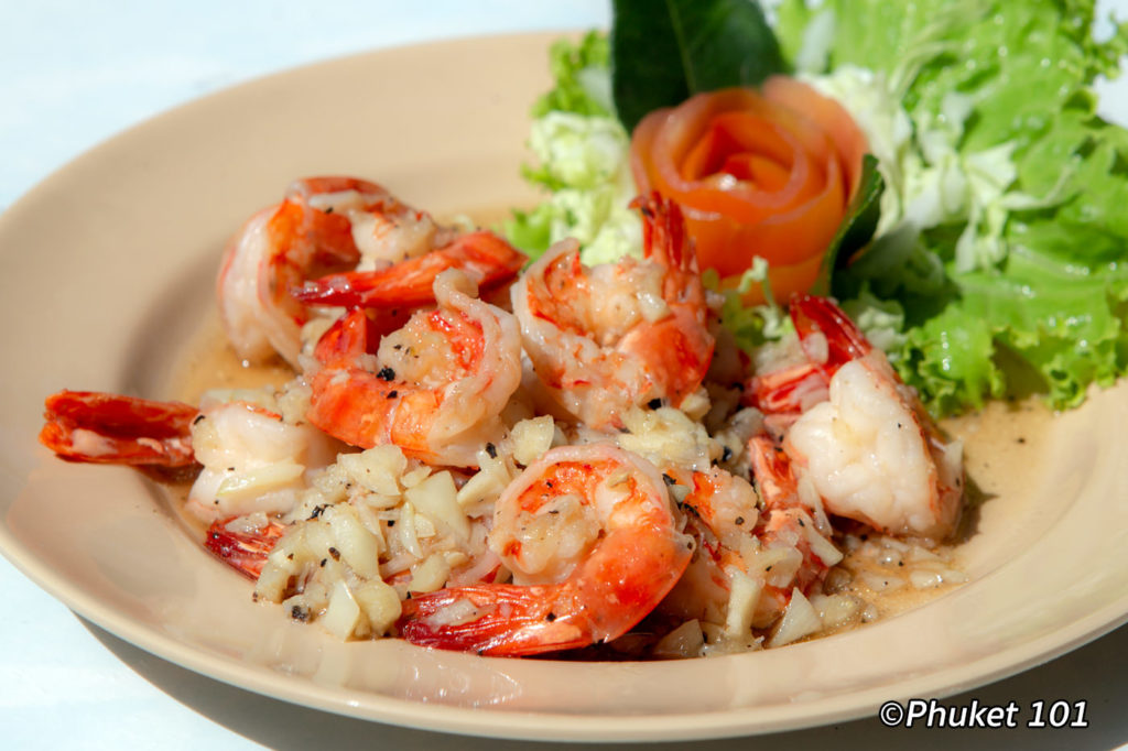 Prawns at Bon Island Restaurant in Phuket
