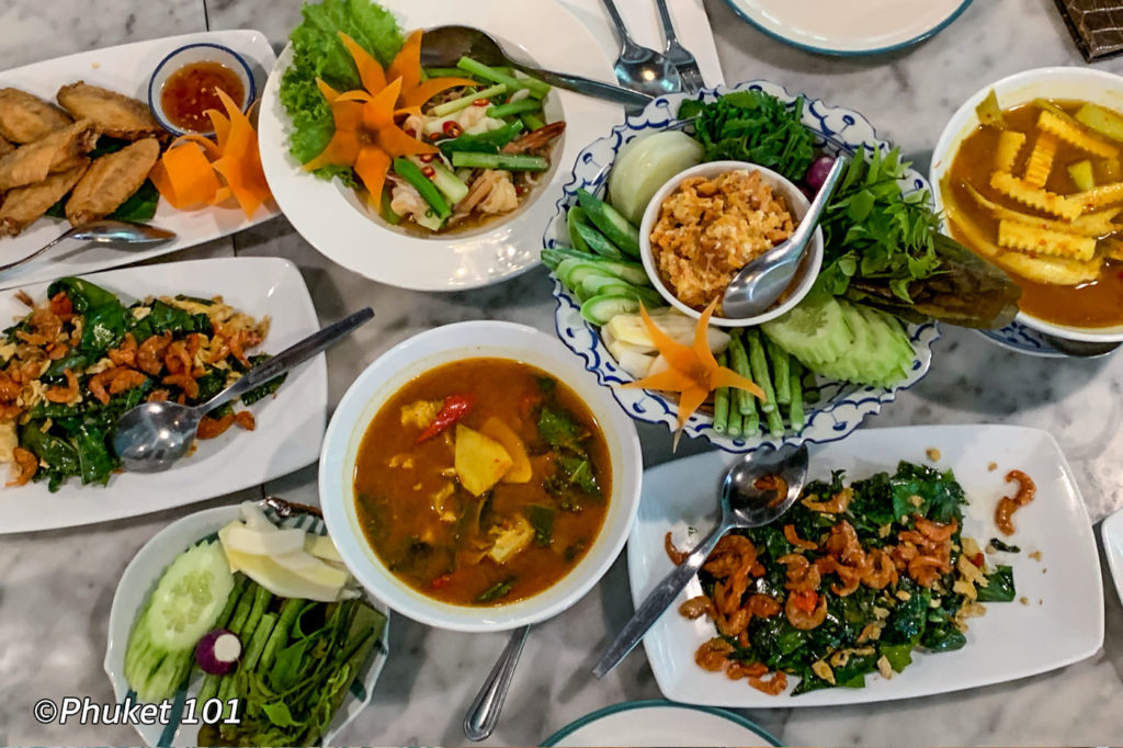 Lunch at Chom Chan Restaurant in Phuket Town