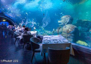 Andasi Underwater Restaurant at Aquaria Phuket