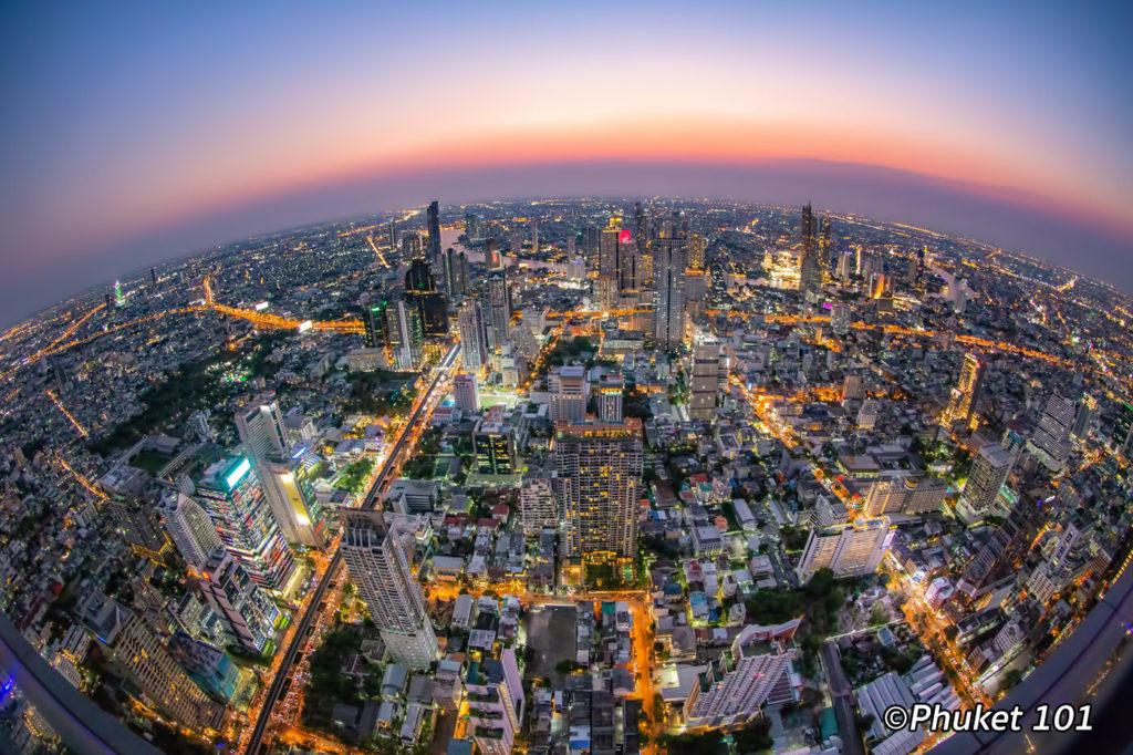 Bangkok Skyline from Mahanakhon Rooftop