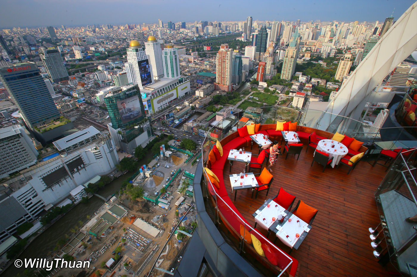 Red Sky Rooftop Restaurant and Bar in Bangkok