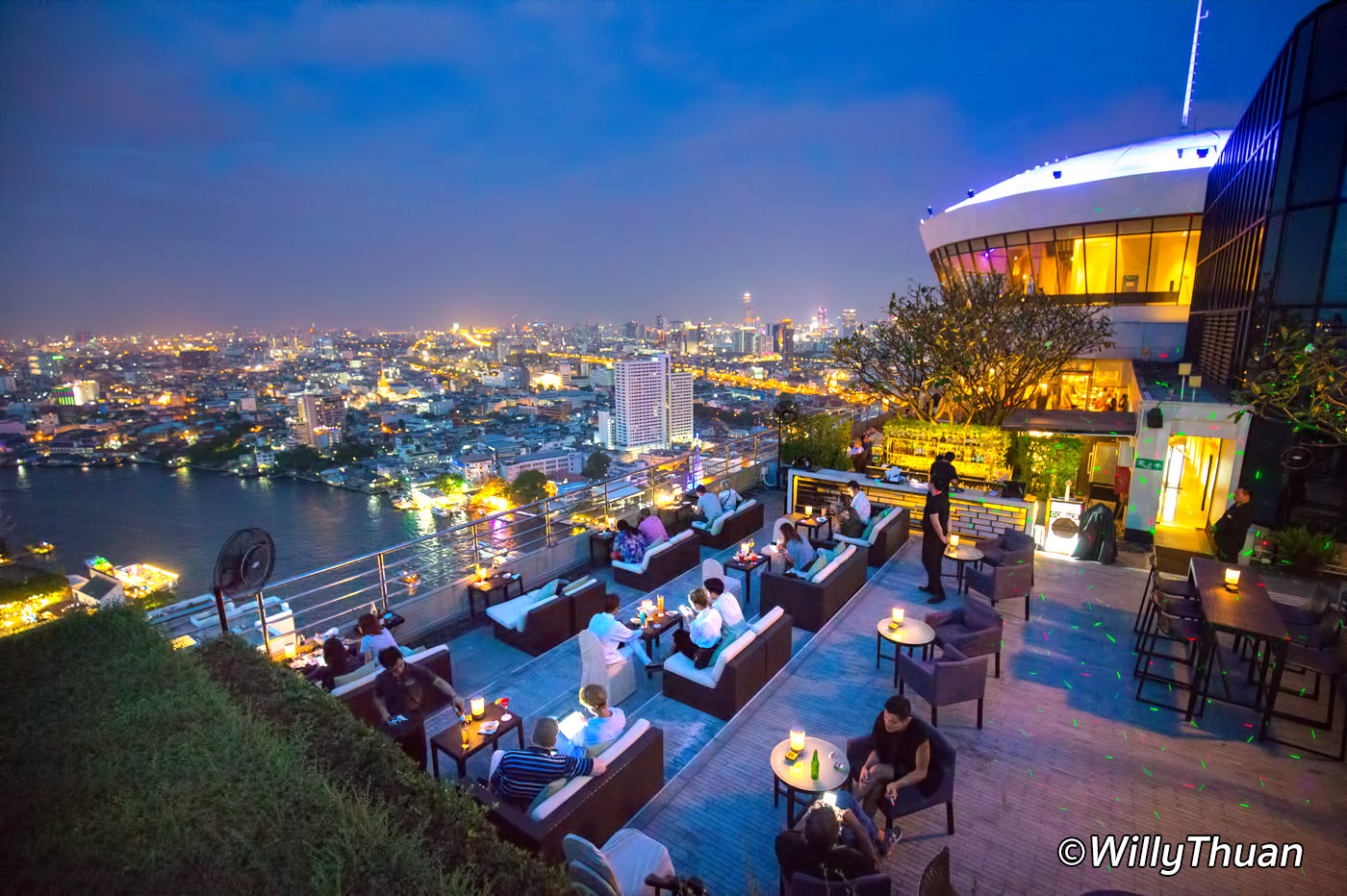 ThreeSixty Rooftop Bar at Millennium Hilton Bangkok