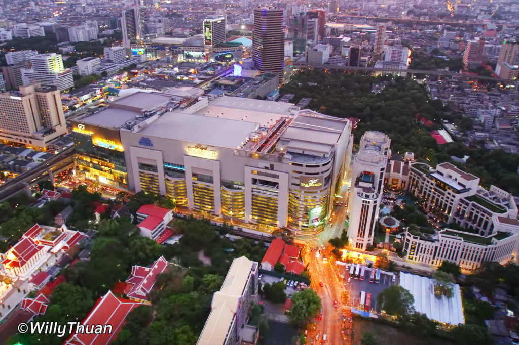 Siam Paragon seen from Red Sky Rooftop Bar