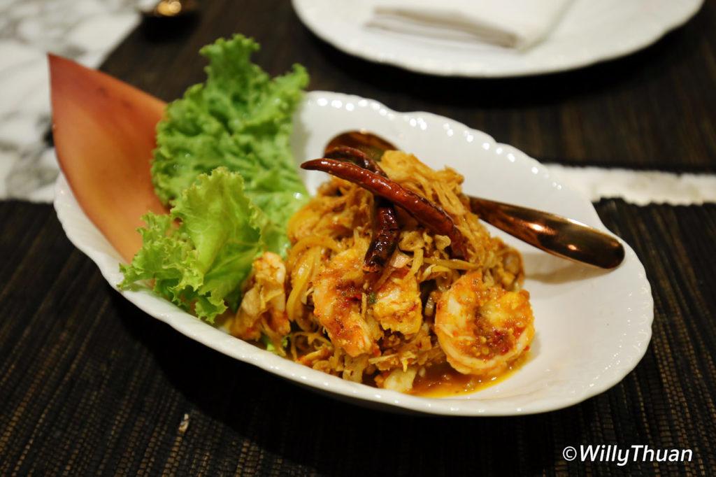 Yum Hua Plee (Banana blossom salad)