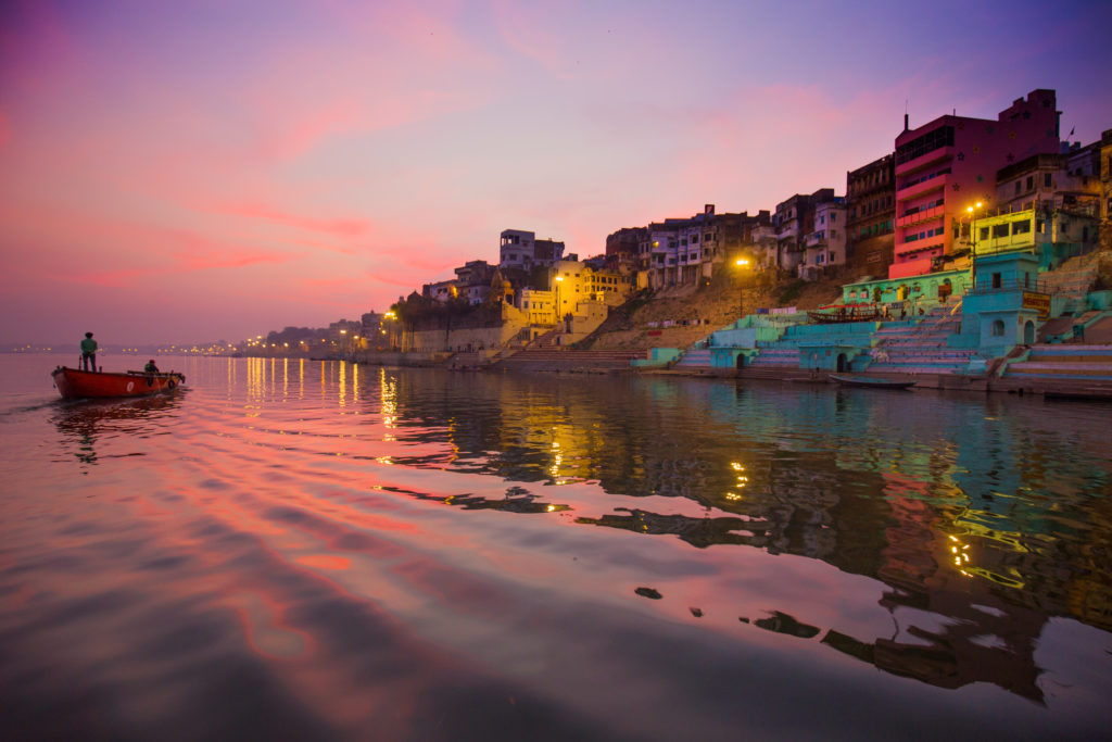 Varanasi seen from the Ganges River