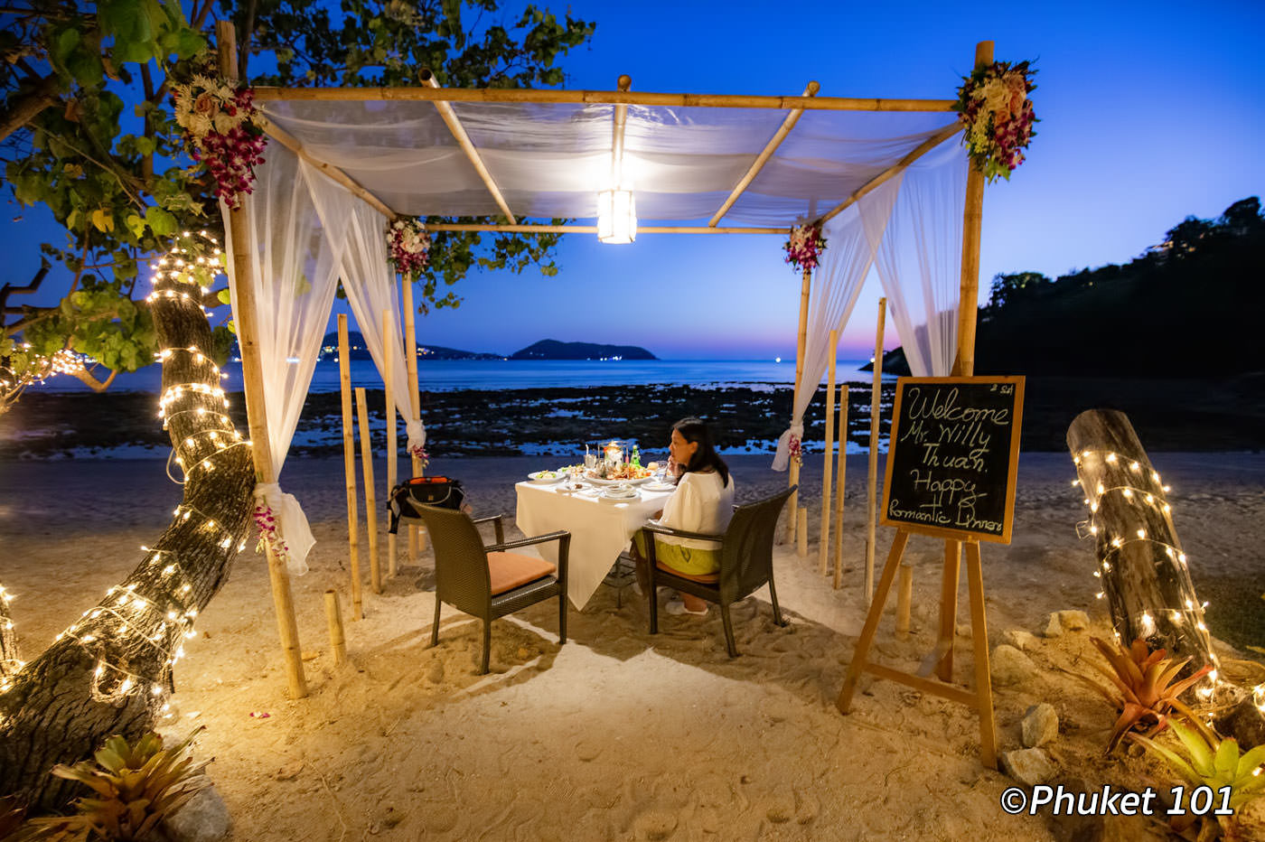 Romantic Beach Dinner at Thavorn Beach Village