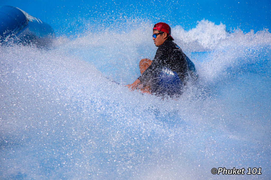 Artificial wave surfing in Kata Beach
