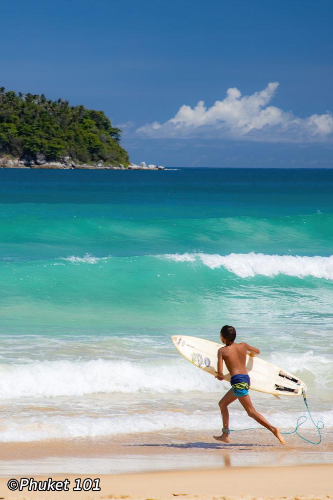Surfing in Kata Beach