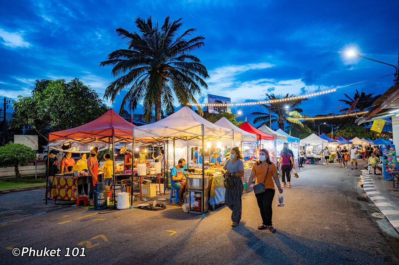 Kor Jaan night market in Phuket Town