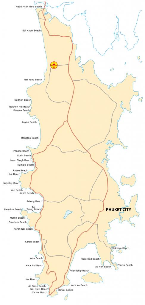 Phuket beaches map