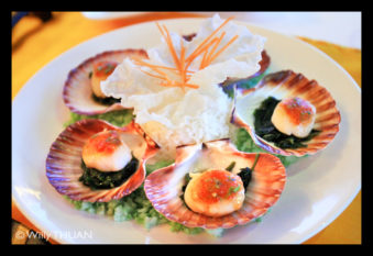 scallops-spinach