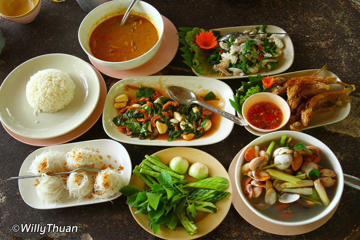 Thai Food With Seafood